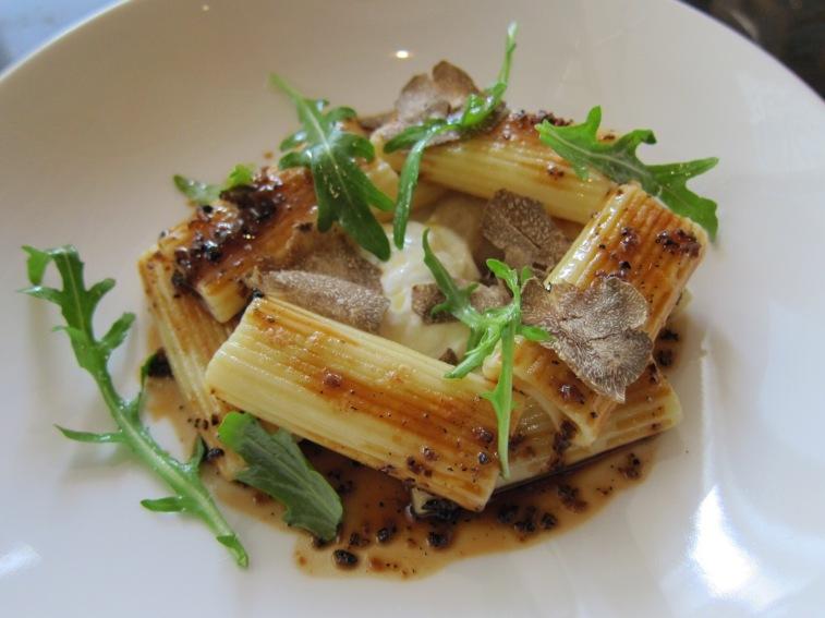 Pasta a la plancha, Burrata, Summer truffle (299 IDR) (+300 IDR with Saga Beef)